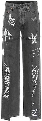 x Levi's high-rise wide-leg jeans