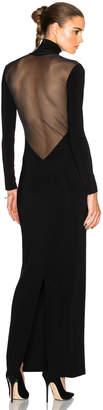 Norma Kamali Low Back Mesh Dress $285 thestylecure.com