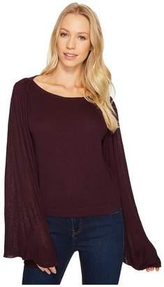 Three Dots Luxe Slub Crop Top Women's Clothing