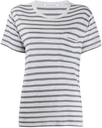Alexander Wang striped pattern T-shirt
