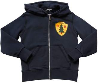 DSQUARED2 Zip-Up Cotton Sweatshirt Hoodie