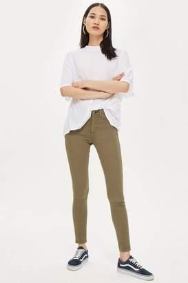 Topshop Khaki Leigh Jeans
