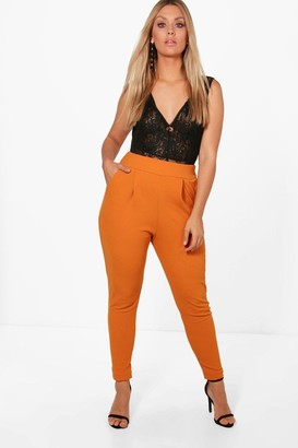boohoo Plus Pleat Front Trouser