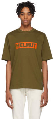 Helmut Lang Khaki Logo Tall T-Shirt