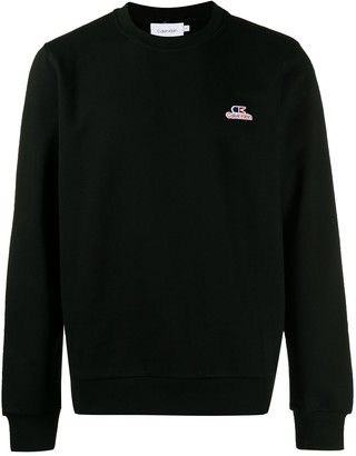 Calvin Klein embroidered logo patch sweatshirt