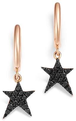 Black Diamond OWN YOUR STORY 14K Rose Gold Cosmos Rockstar Hoop Earrings