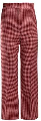 Fendi Checked Wool Trousers - Womens - Red Multi