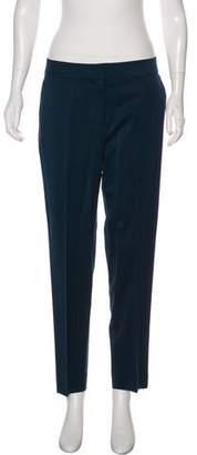 St. John Wool Mid-Rise Straight-Leg Pants