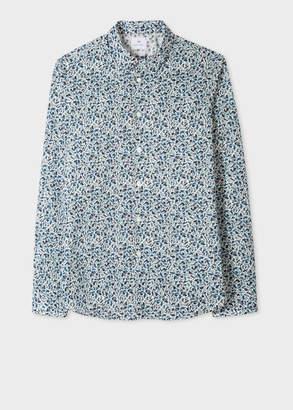 Paul Smith Men's Slim-Fit 'Fox Camouflage' Print Cotton Shirt