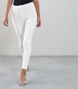 Reiss Arla - Seam Detail Skinny Trousers in Off White