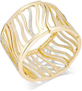Thalia Sodi Gold-Tone Pave Tiger Stretch Bracelet