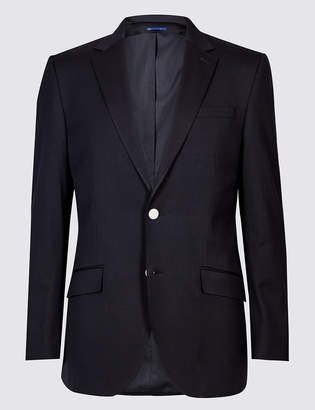Marks and Spencer Big & Tall Wool Blend Textured Regular Fit Jacket