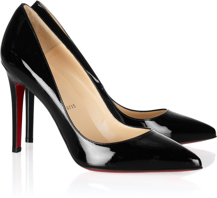 Christian Louboutin Pigalle 120 patent-leather pumps
