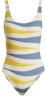 Solid & Striped The Anne Marie Backgammon Print Swimsuit - Womens - Multi
