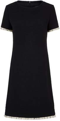 Max Mara Frayed Trim Dress