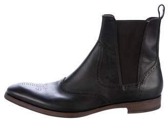 Saint Laurent Leather Brogue Chelsea Boots