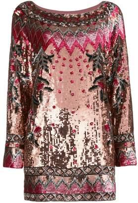 Alberta Ferretti patterned sequin dress