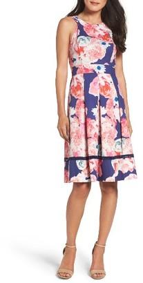 Women's Eliza J Fit & Flare Dress $128 thestylecure.com