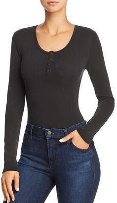 Honey Punch Rib-Knit Bodysuit