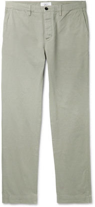 Mr P. - Straight-Leg Garment-Dyed Cotton-Twill Chinos - Men - Gray