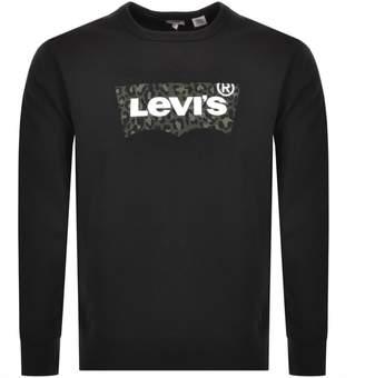 Levi's Levis Crew Neck Logo Sweatshirt Black