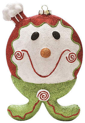 Asstd National Brand 9 Merry & Bright Red White and Green Glittered Shatterproof Gingerbread Boy Christmas Ornament