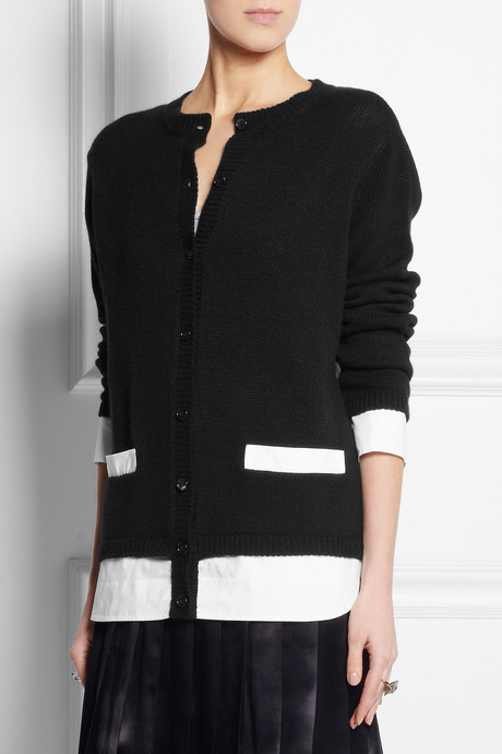 Marni Cotton-trimmed cashmere cardigan