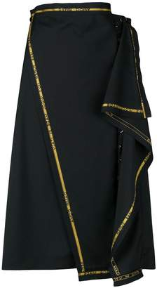 Damir Doma ruffle logo-trim skirt