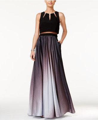 Betsy & Adam Illusion 2-Pc. Ombré A-Line Gown $259 thestylecure.com