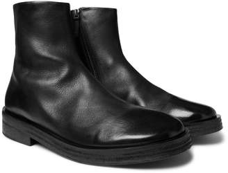 Marsèll Listone Burnished-Leather Chelsea Boots - Men - Black