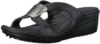 Crocs Women's Sanrah Embellished Wedge Sandal