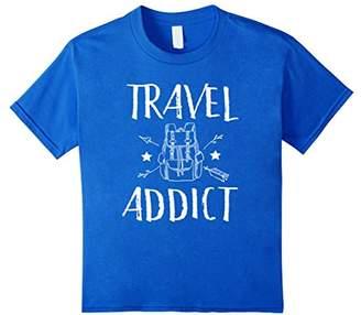 Wanderlust Travel Addict Cool Vintage Backpacking T-shirt