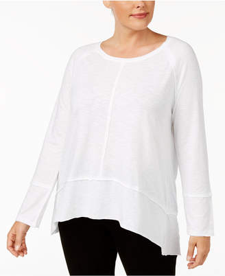 Style&Co. Style & Co Plus Size Seamed High-Low Top