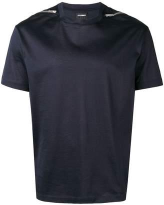Les Hommes zipped shoulder detail T-shirt