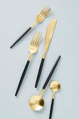 Anthropologie Gold-Dipped Flatware