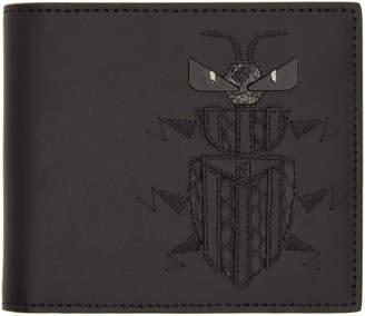 Fendi Black Super Bugs Bifold Wallet