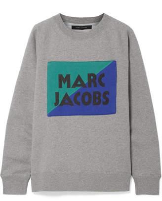 Marc Jacobs Appliquéd Cotton-jersey Sweatshirt - Gray