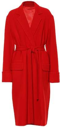 Helmut Lang Wool wrap coat