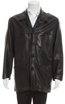 Barneys New York Barney's New York Wool-Lined Leather Jacket