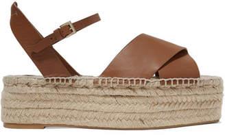 7844dc5983b Mercedes Castillo - Ximena Leather Espadrille Platform Sandals - Brown