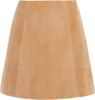 Carolina Herrera Suede Mini Skirt