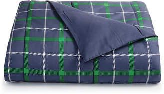Martha Stewart Collection Essentials by Collection Reversible Plaid Twin Comforter