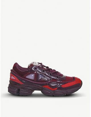Raf Simons Adidas X Ozweego III leather and mesh trainers
