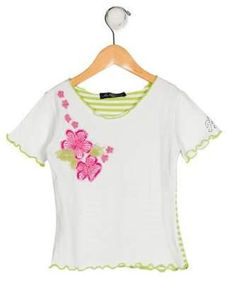 Miss Blumarine Girls' Short Sleeve Top