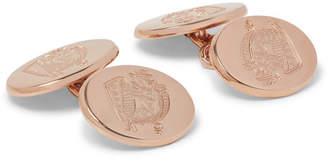 Deakin & Francis Kingsman + Rose Gold-Plated Sterling Silver Cufflinks