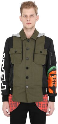 Techno Gabardine & Satin Field Jacket $1,395 thestylecure.com