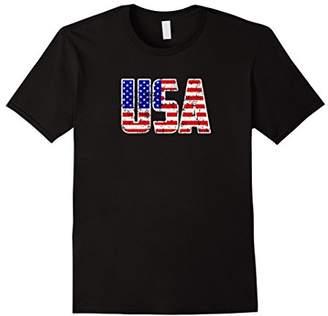Vintage USA Flag T-Shirt Tee