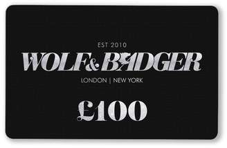 Wolf & Badger Gift Card £100