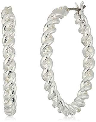 Chaps Women's Twisted Clickit Hoop Earrings