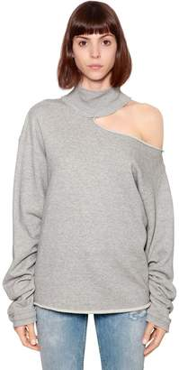 RtA Open Shoulder High Collar Sweatshirt